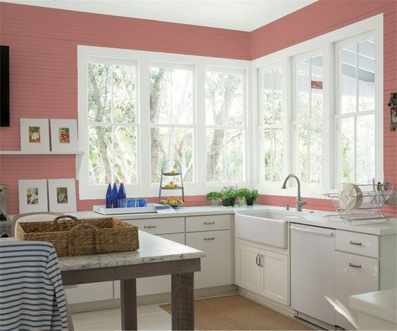 Texas Rose paint color in kitchen