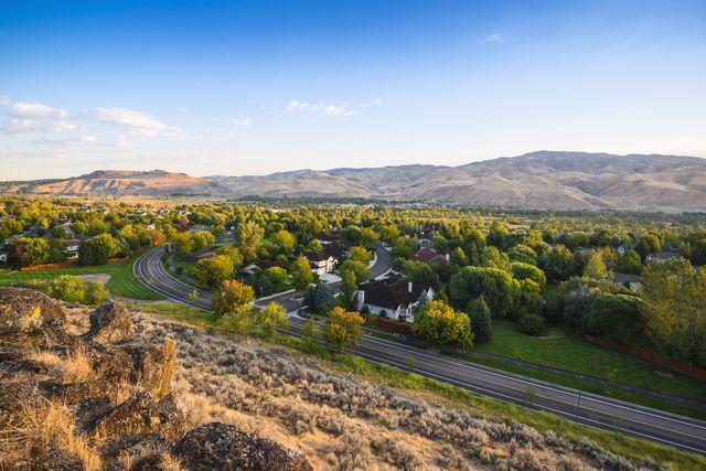 Homes in a Boise neighborhood