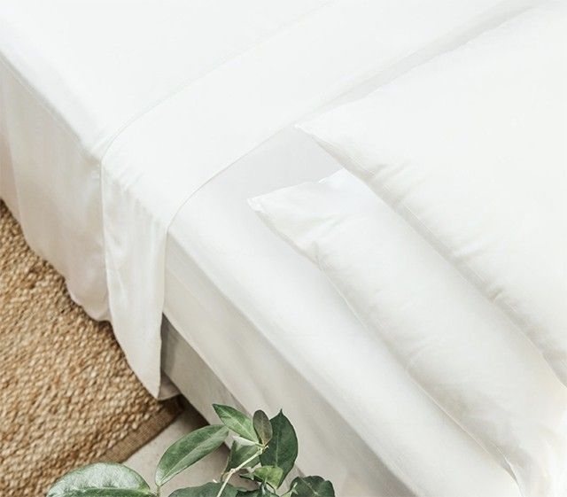 Bamboo sheets help you sleep cool.