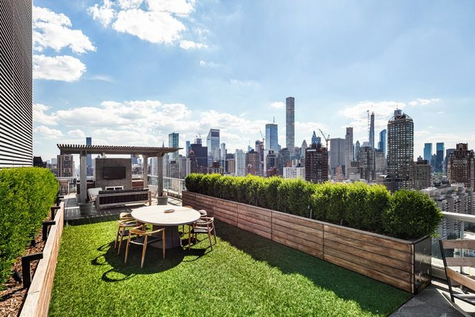 Jennifer Lawrence's penthouse includes a two-floor terrace.