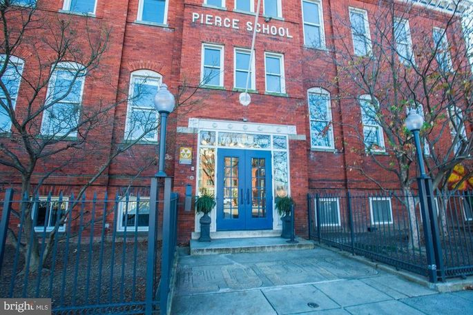 The penthouse is in a former school.