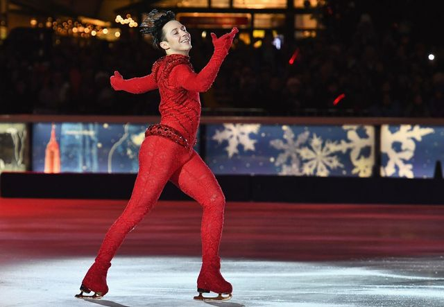 Johnny Weir skates during the Bank of America Winter Village at Bryant Park's Annual Tree Lighting Skate-tacular on December 1, 2017 in New York City.