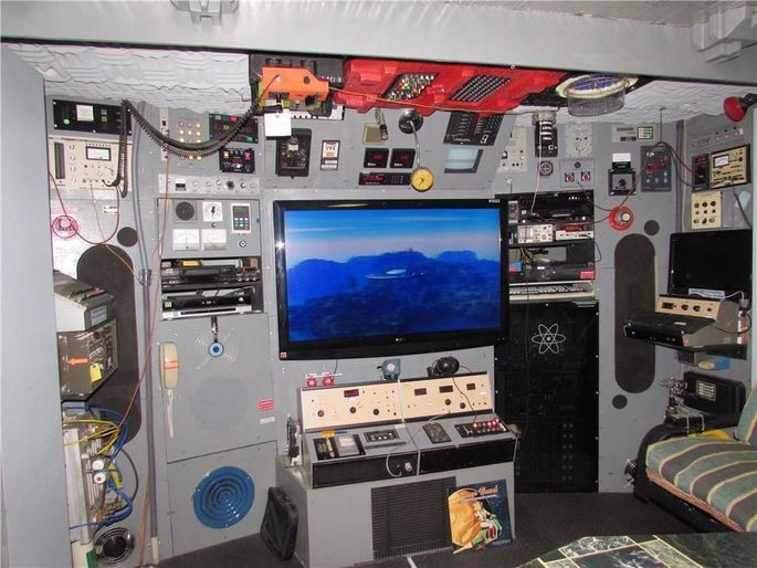 Hand-made control room