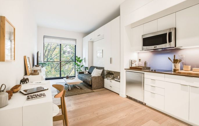 A Micro Apartment At Carmel Place In New York City