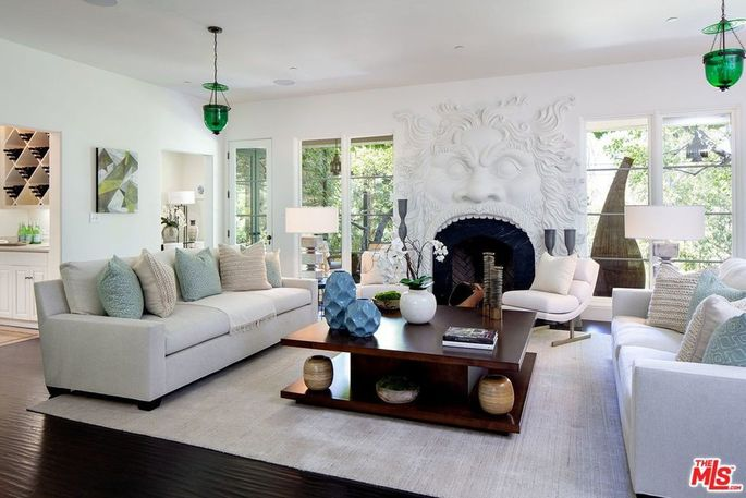 Living room of Pacific Palisades home