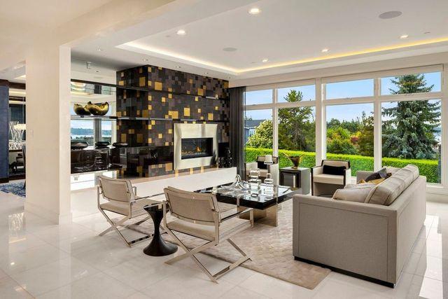 Living room Felix Hernandez Clyde Hill WA house
