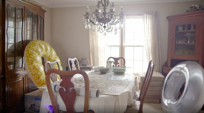 This dining room was clearly never used for dining.