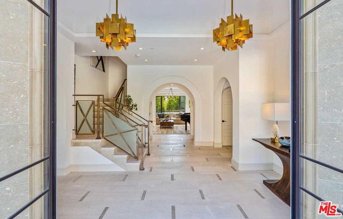 The foyer of Rihanna's Hollywood Hills home