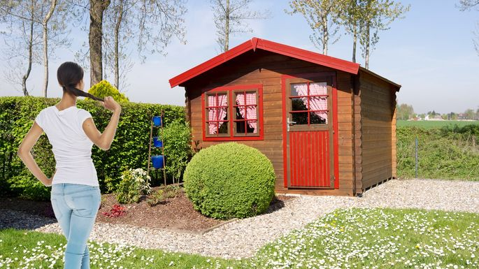 Man Cave Woman Shed : It was just a shabby little shed out back until wife transforms