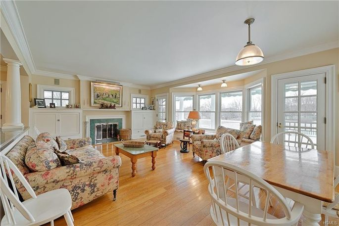 Family room and breakfast table