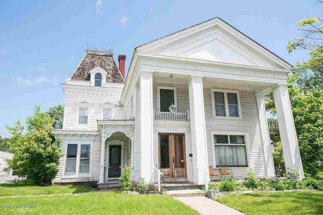 greek revival mansion in warrensburg, NY exterior
