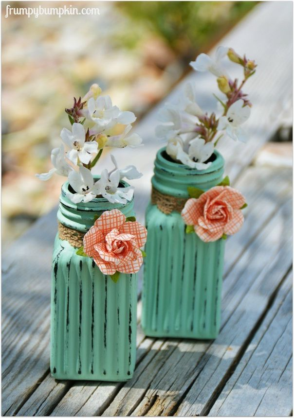 Turn simple dollar store salt and pepper shakers into adorable bud vases.