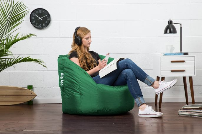 Beanbag chairs offer comfy, portable seating.