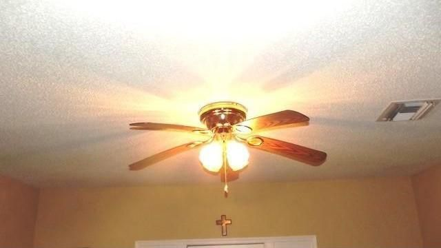 Yep, that's a ceiling fan all right.