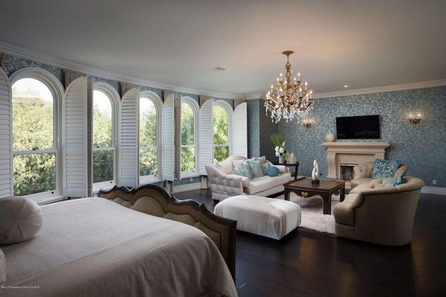 Master bedroom with sitting area