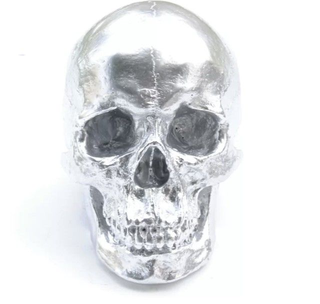 Silver is timeless, even on a skull.