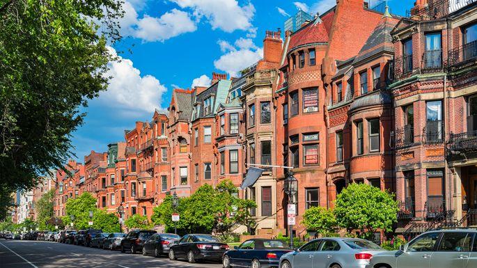 Commonwealth Avenue in Boston.