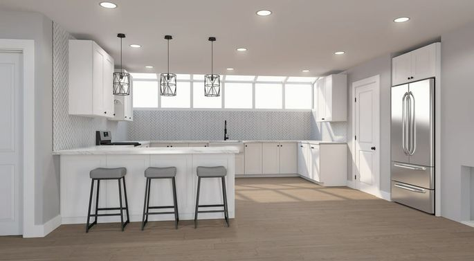 The plans for the new kitchen look beautiful, but they are also expensive.