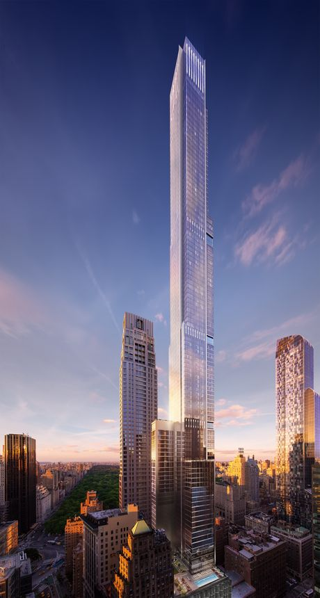A rendering of how Central Park Tower will look once finished in 2019.