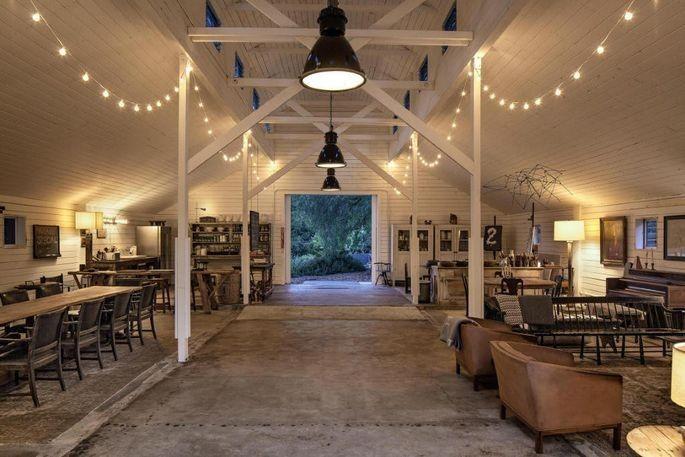 "The ""art barn"" at the Hidden Valley ranch"