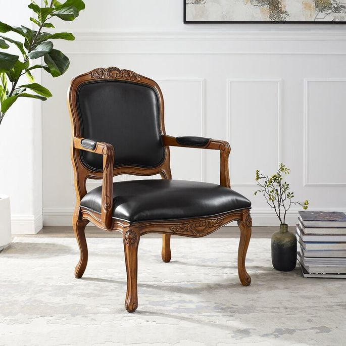 Watford faux leather armchair