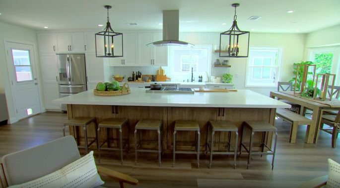 There's nothing like a huge kitchen island.