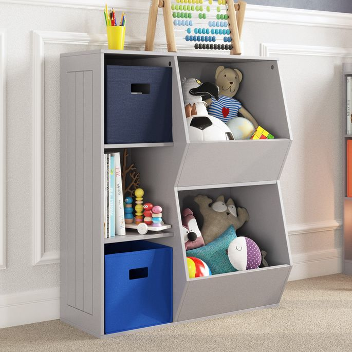 A storage unit will keep your kid's bedroom clutter-free.