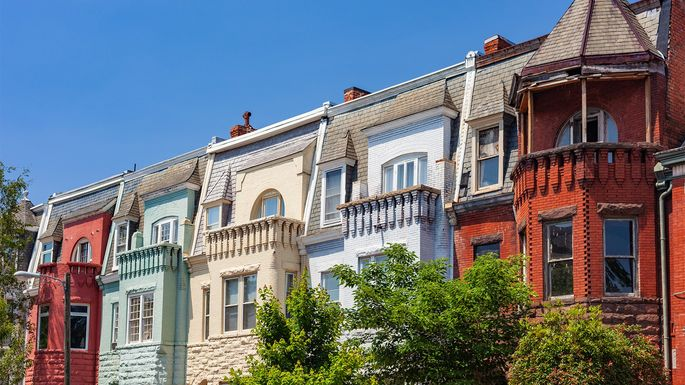 Row houses in Richmond, VA, which was the capital of the Confederate States of America