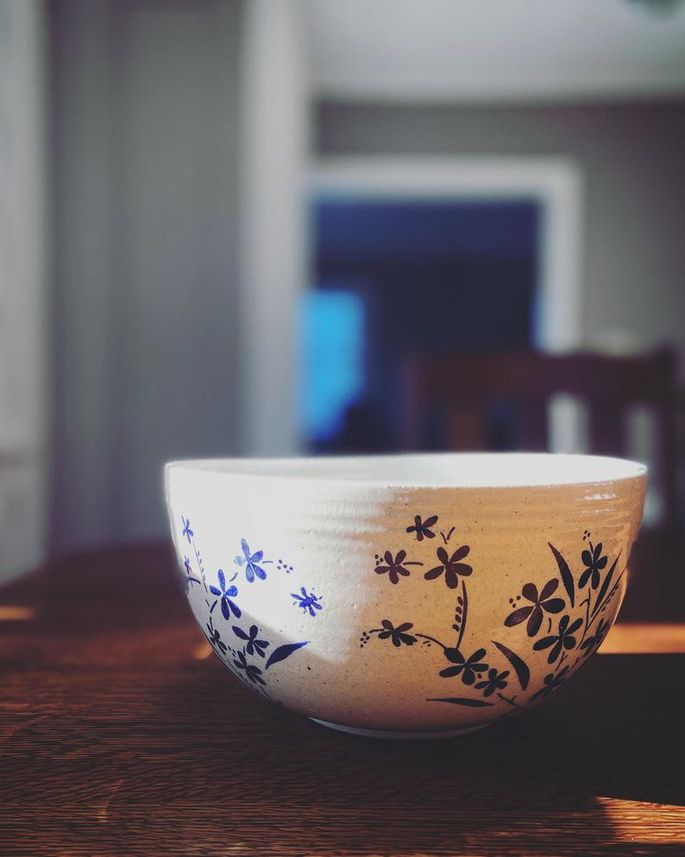 Make a statement with a stoneware serving bowl.