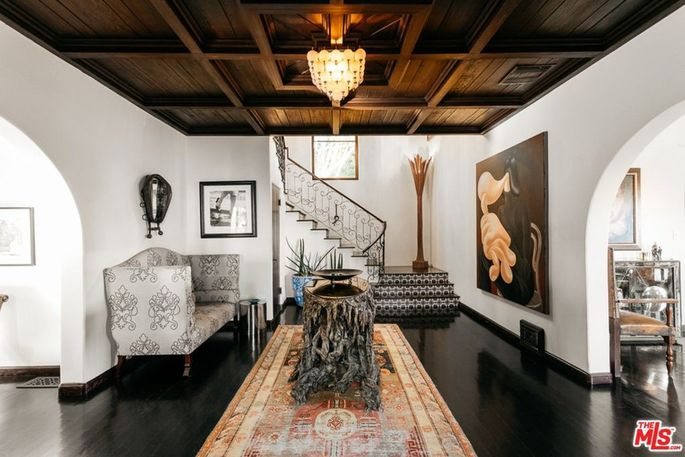 The 1920s residence has been tastefully renovated.