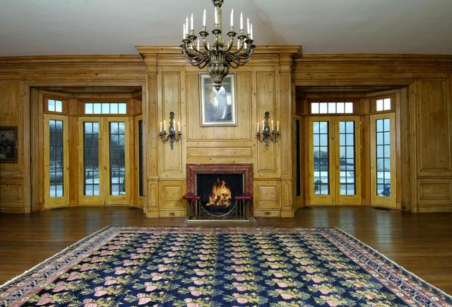 Fancy fireplaces and chandeliers may feel a bit too much like Eighties excess.