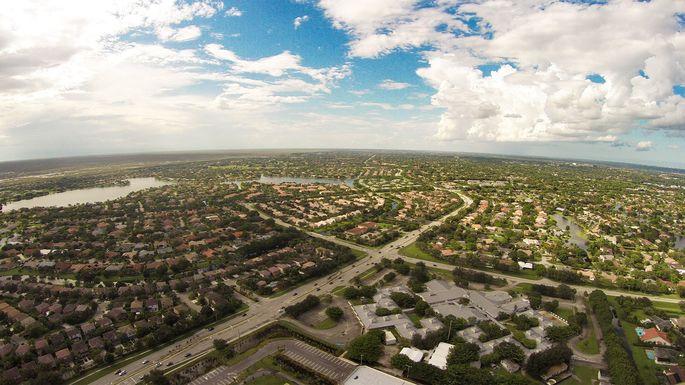 Aerial view of Coral Springs, FL