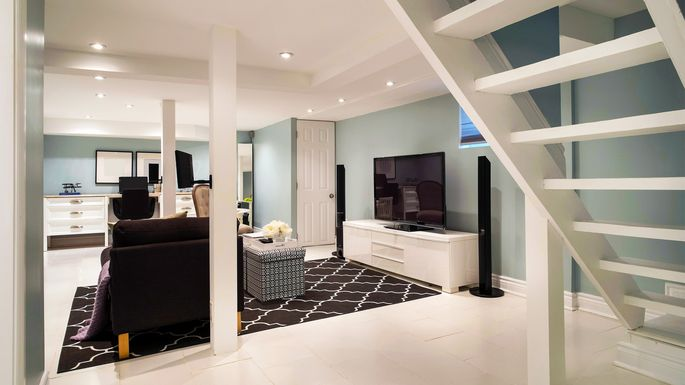 home staging ideas for the basement