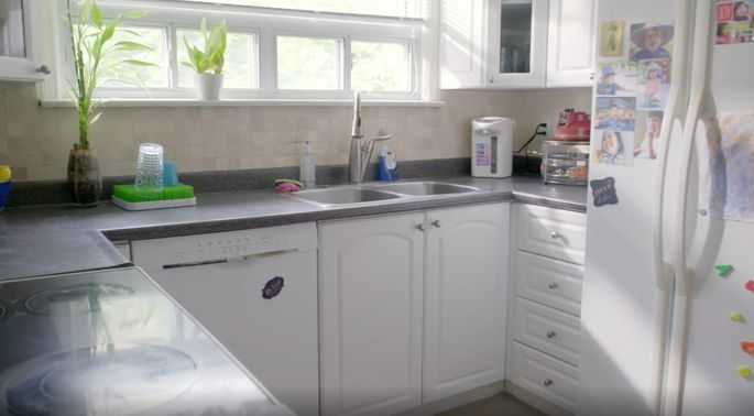 This kitchen was too small for a growing family.