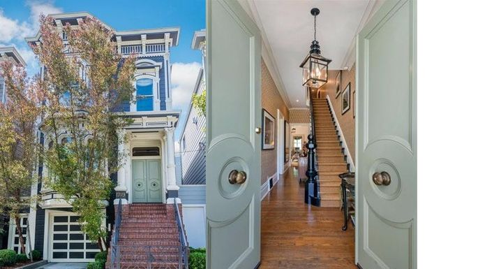 """""""Full House"""" Victorian exterior and foyer"""