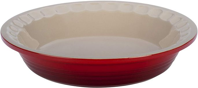 Choose this cherry-red dish to cheer your kitchen.