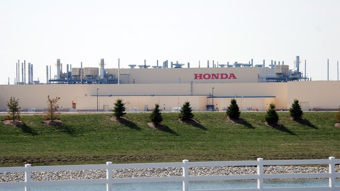 Honda's 2.1 million square-foot assembly plant in Greensburg, IN, which builds the Civic and the natural-gas powered Civic GX