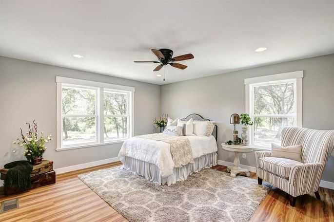 New floors and trim make this room classy and comfortable.