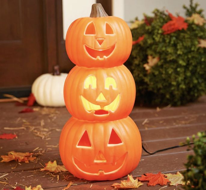 Light-up pumpkins will illuminate any corner of your home.
