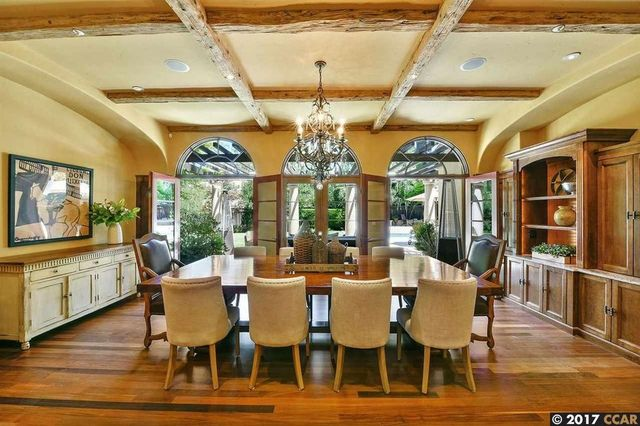 Formal dining room with veranda access