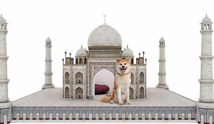 What pooch potentate wouldn't be happy in a doggy Taj Mahal?