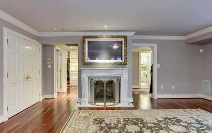 A fireplace in the master bedroom is always a classy touch.