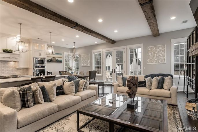Open living and dining space of home in Tuscaloosa, AL