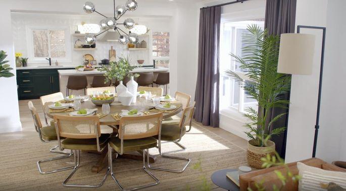 Cet espace repas est lumineux, lumineux et magnifique.