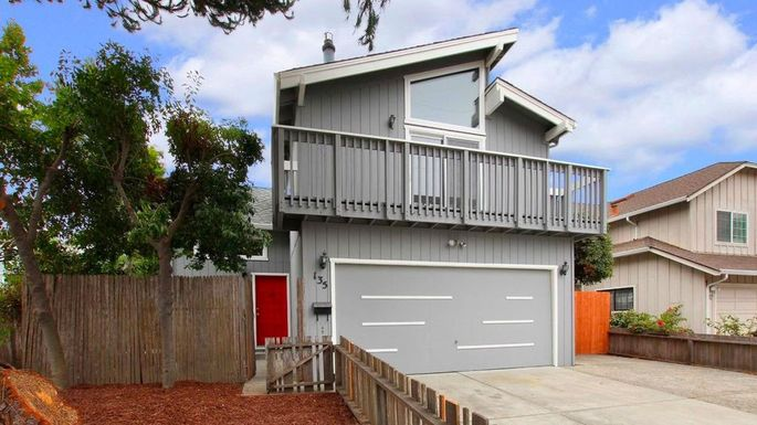 A three-bedroom home in Santa Cruz