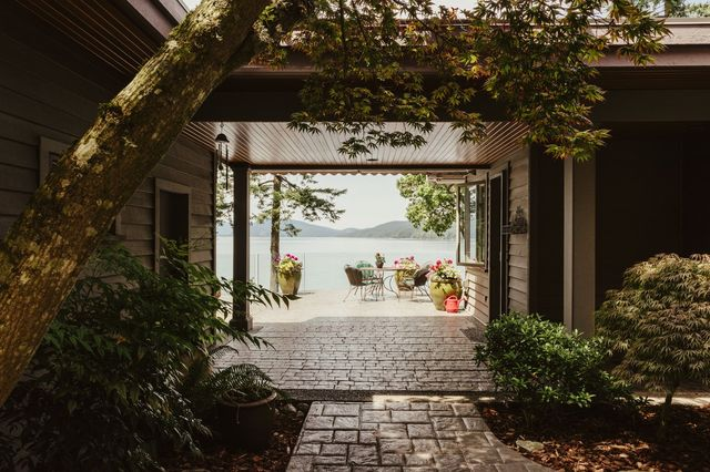 It took almost two years for Lloyd and Suzie Anderson to find this waterfront home.