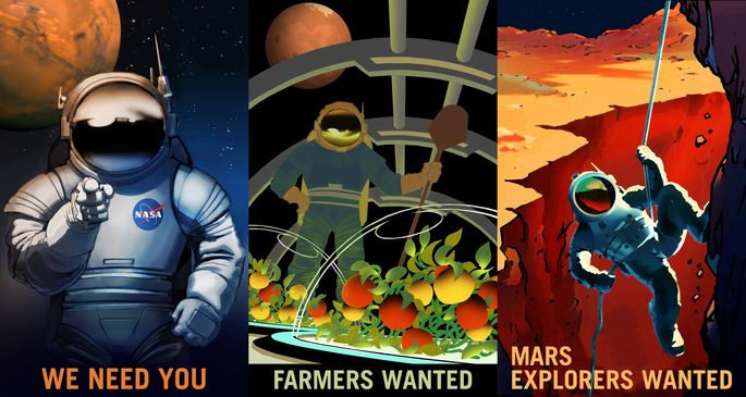 NASA's Journey to Mars posters