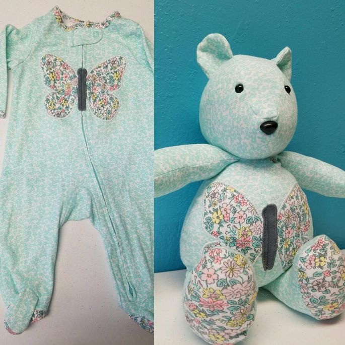 Your tot's favorite outfit can live again as a sweet bear