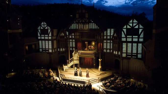 """A performance of """"Henry VIII"""" during the Shakespeare Festival"""