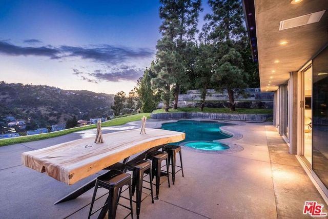 Backyard in Hollywood home